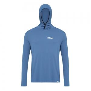 Camiseta de Pesca Performance Redai Balaclava Azul