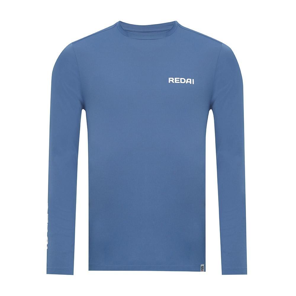 Camiseta de Pesca Performance Redai Clean Azul