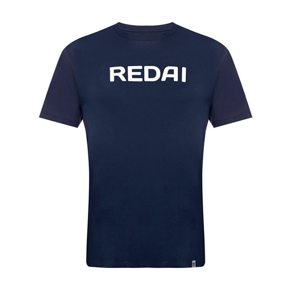 Camiseta de Pesca Performance Redai Team Marinho Manga Curta