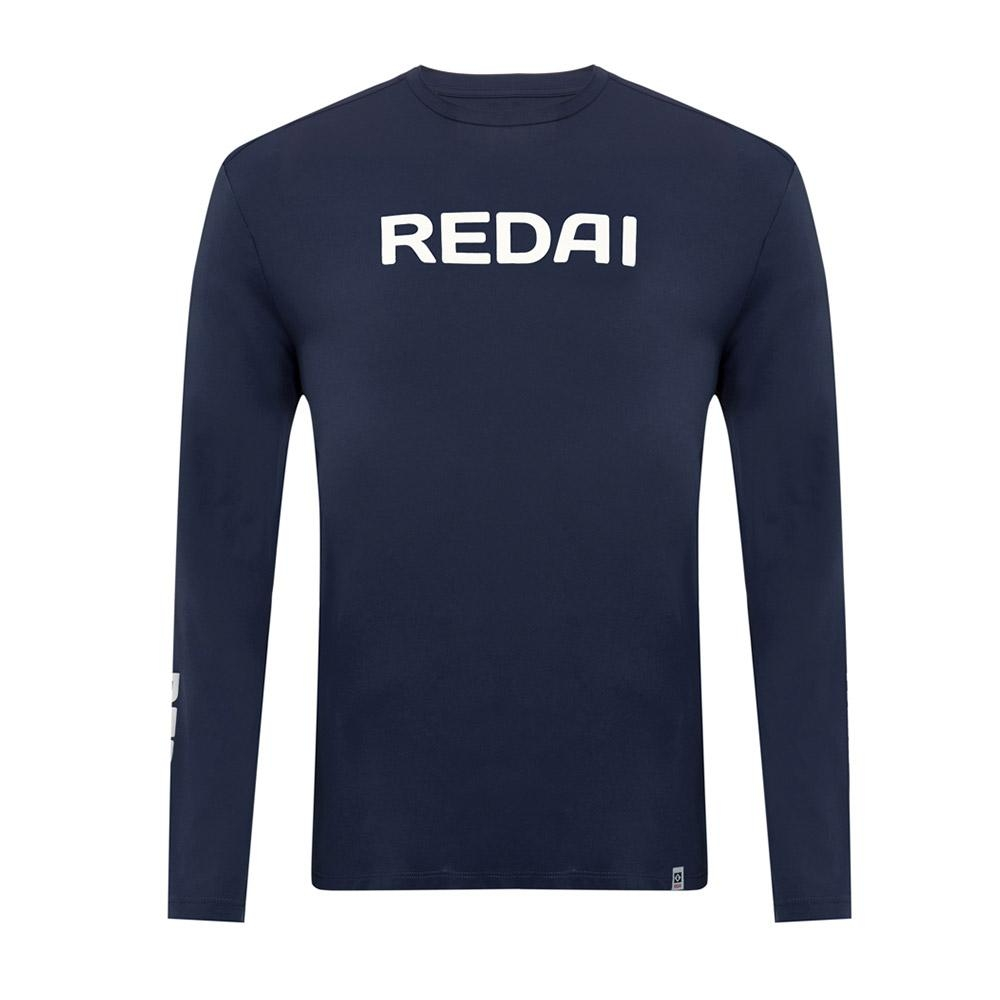 Camiseta de Pesca Performance Redai Team Marinho Manga Longa