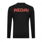 Camiseta de Pesca Performance Redai Team Preto Manga Longa